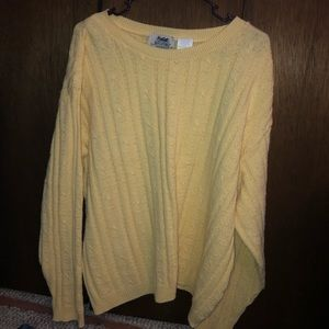 Oversized bright yellow sweater
